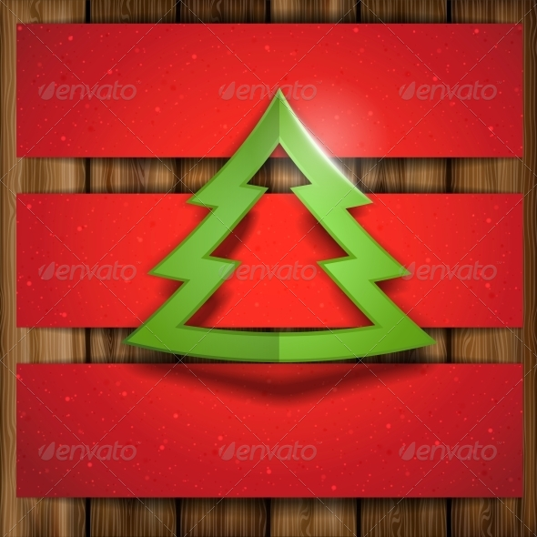 GraphicRiver Simple Paper Christmas Tree 6176559