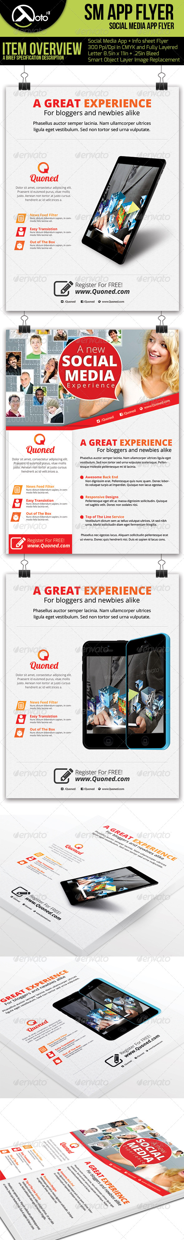 GraphicRiver Social Media Flyer with Mobile App Preview 6176567