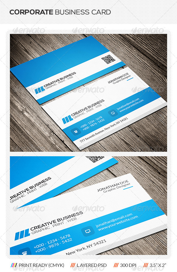 GraphicRiver Corporate Business Card 6177425
