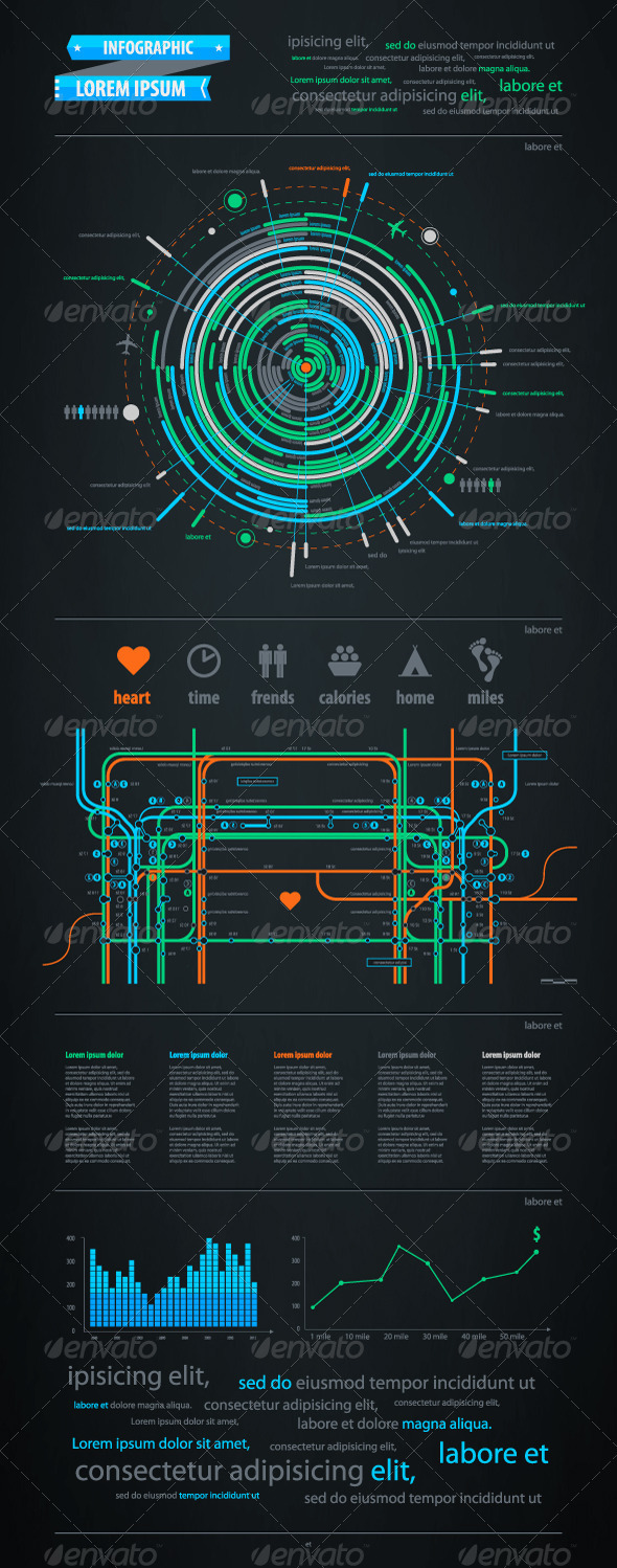 GraphicRiver Infographics element with a map of the city 644822