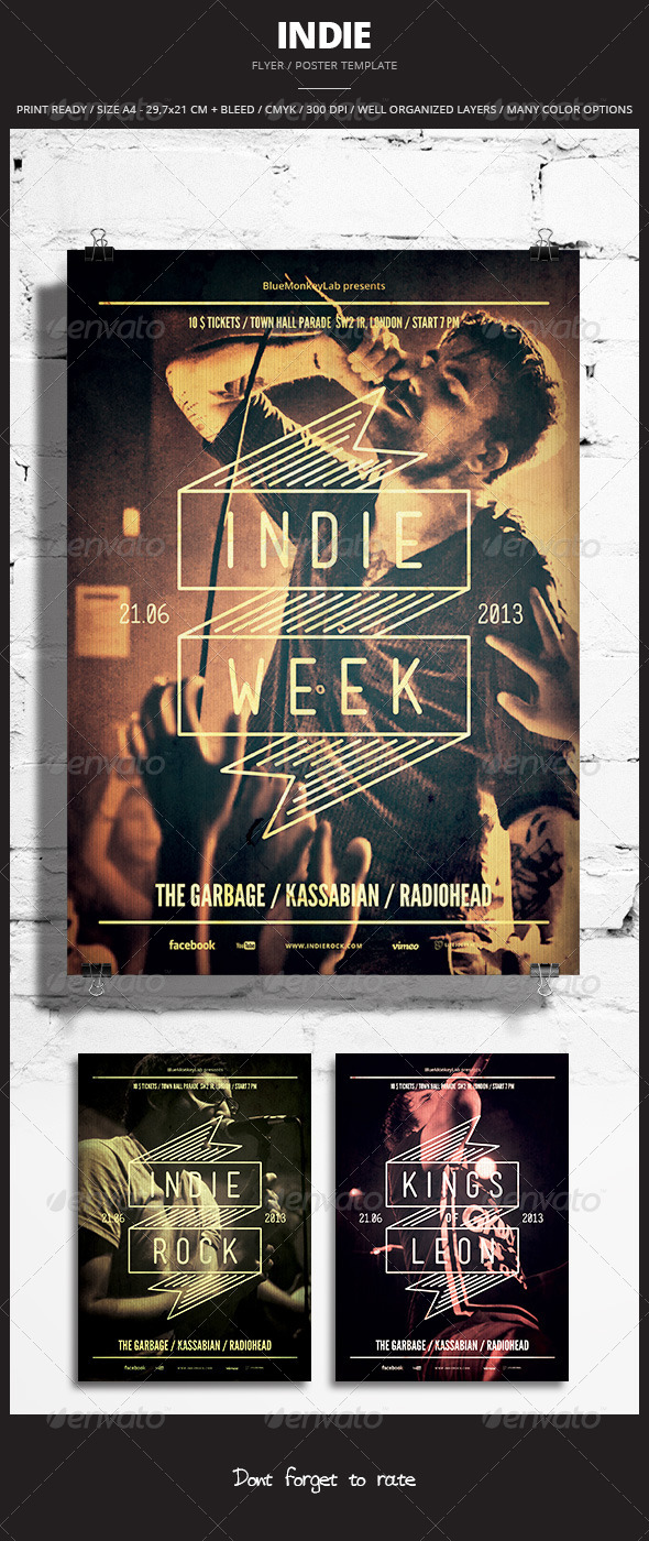Indie Flyer / Poster 9 - Events Flyers