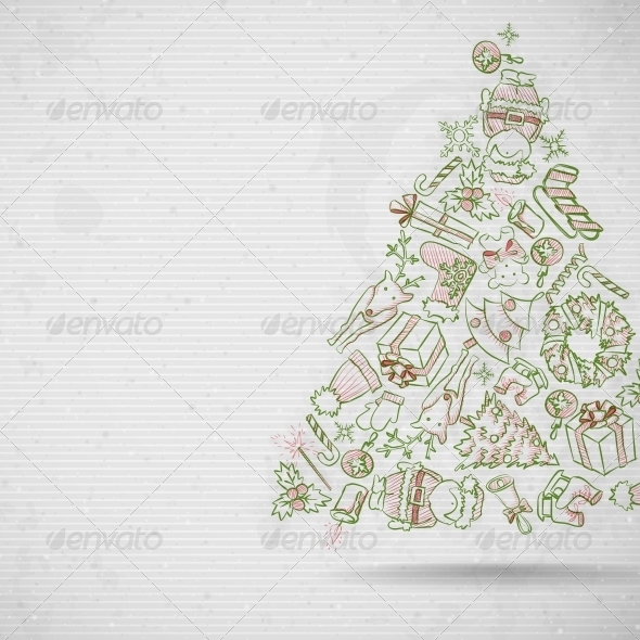 GraphicRiver Simple Paper Christmas Tree 6177936