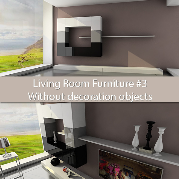 3DOcean Living Room Furniture #3 Without deco objects 6178177