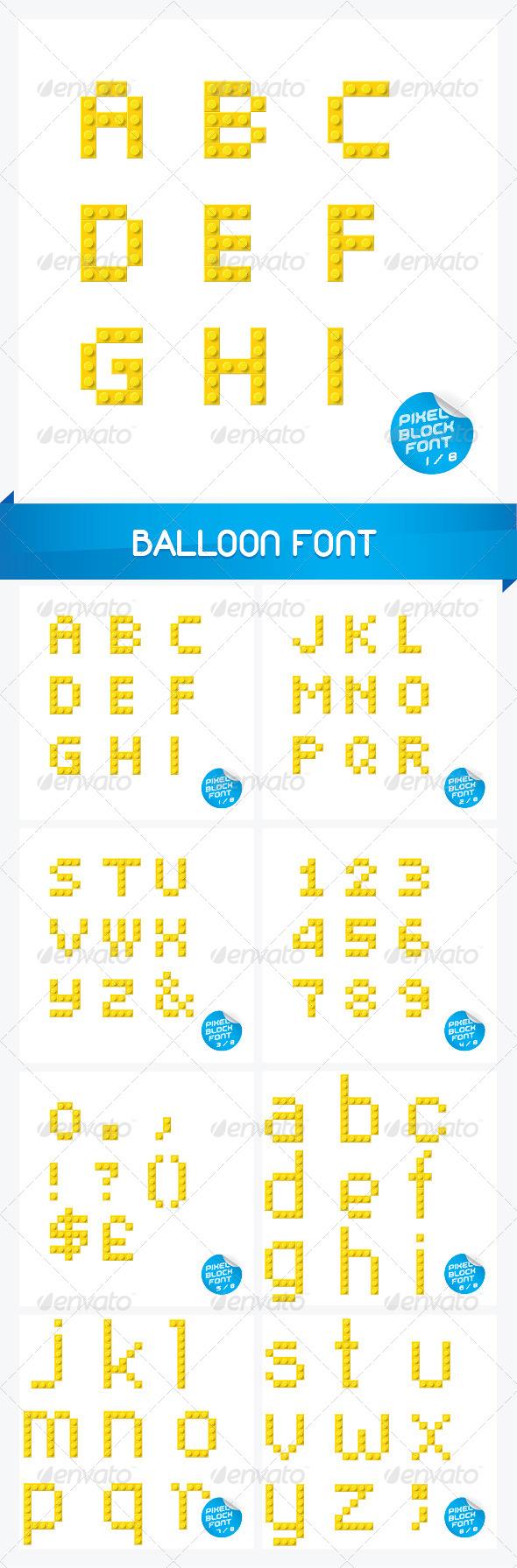 GraphicRiver Pixel Block Font 6178414