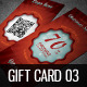 Christmas Gift Card / Voucher vol 03  - GraphicRiver Item for Sale