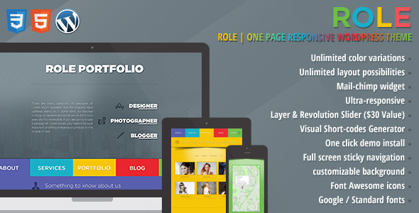 Role | One Page Responsive Portfolio Theme - Creative WordPress