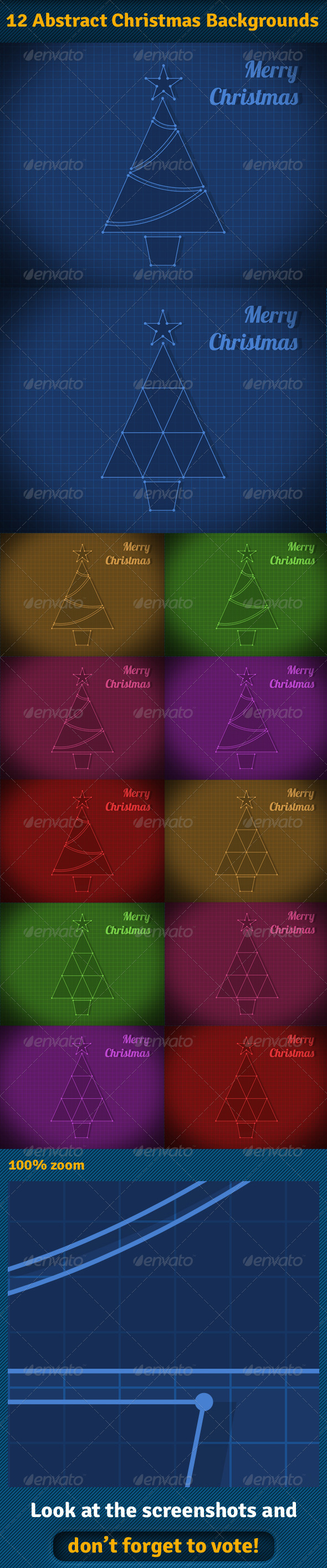 GraphicRiver Abstract Christmas Backgrounds 6179270