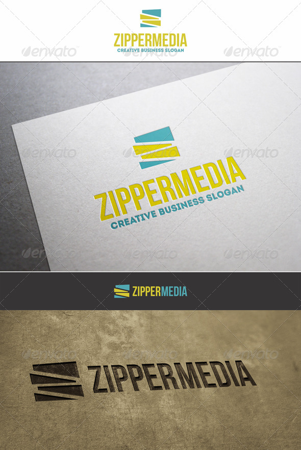 GraphicRiver ZigZag Zipper Media Logo 6180414