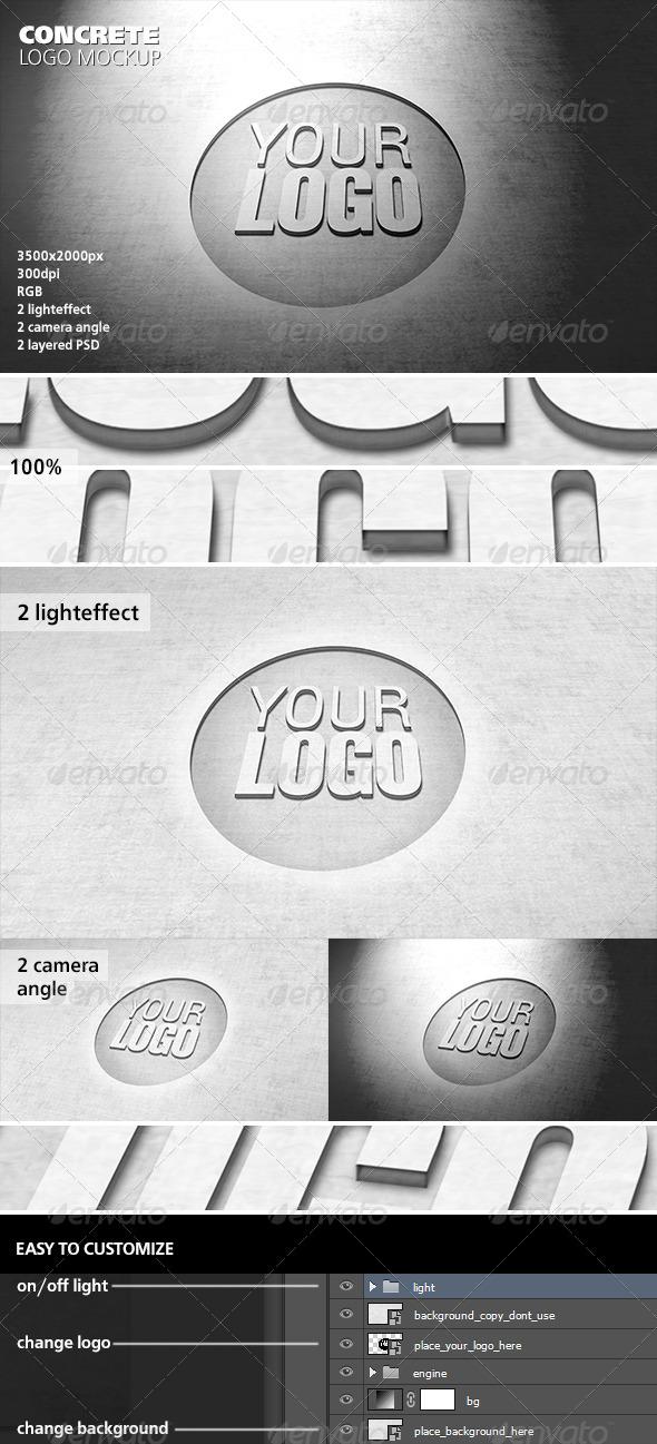 GraphicRiver Concrete Logo Mockup 6180473