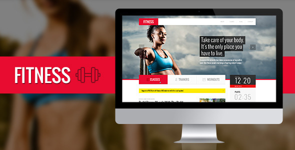 Fitness PSD Template - Health & Beauty Retail