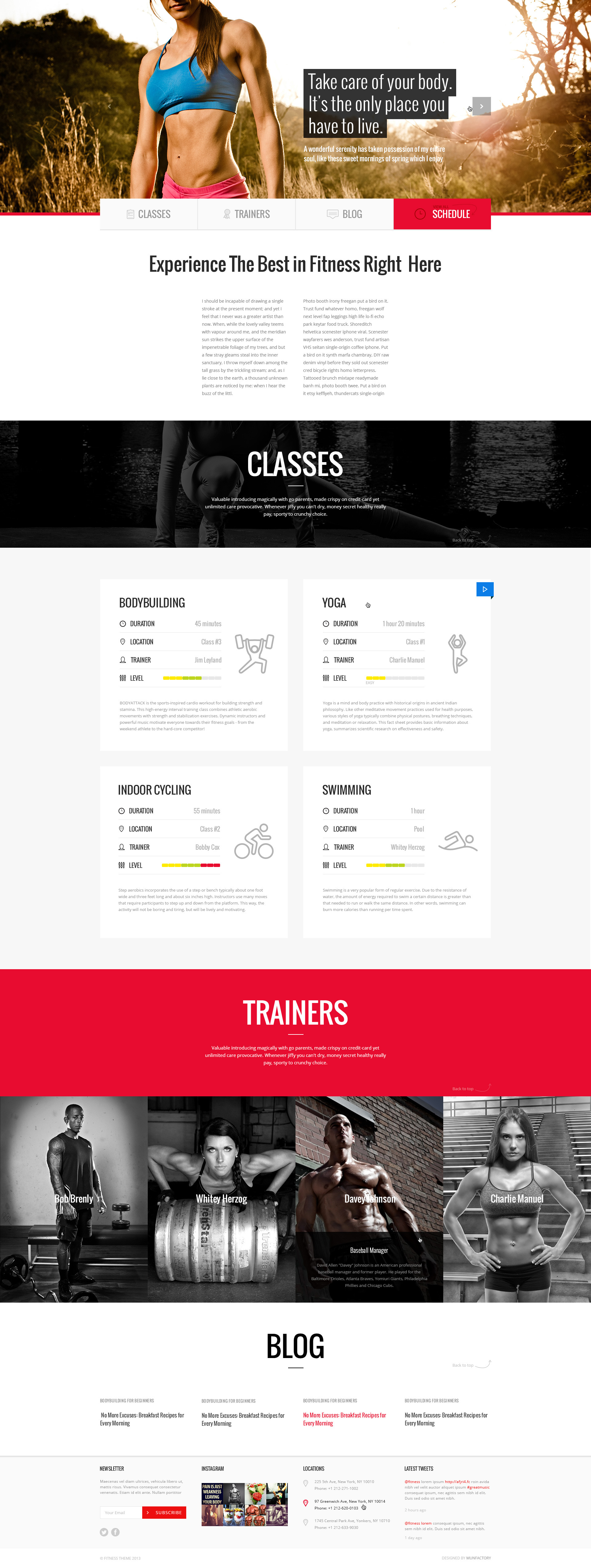 Fitness PSD Template