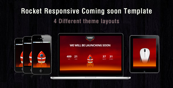 ThemeForest Rocket coming soon 6116461