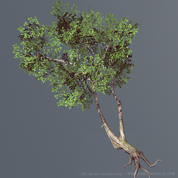 3DOcean Next Gent Tree 3D model 6181216