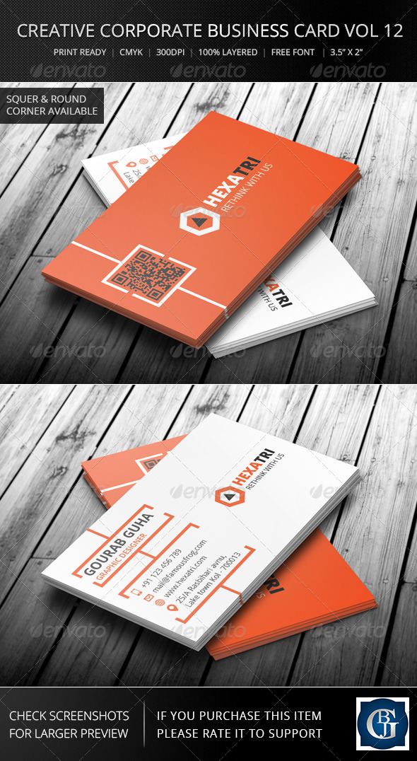 GraphicRiver Creative Corporate Business Card Vol 12 6181355