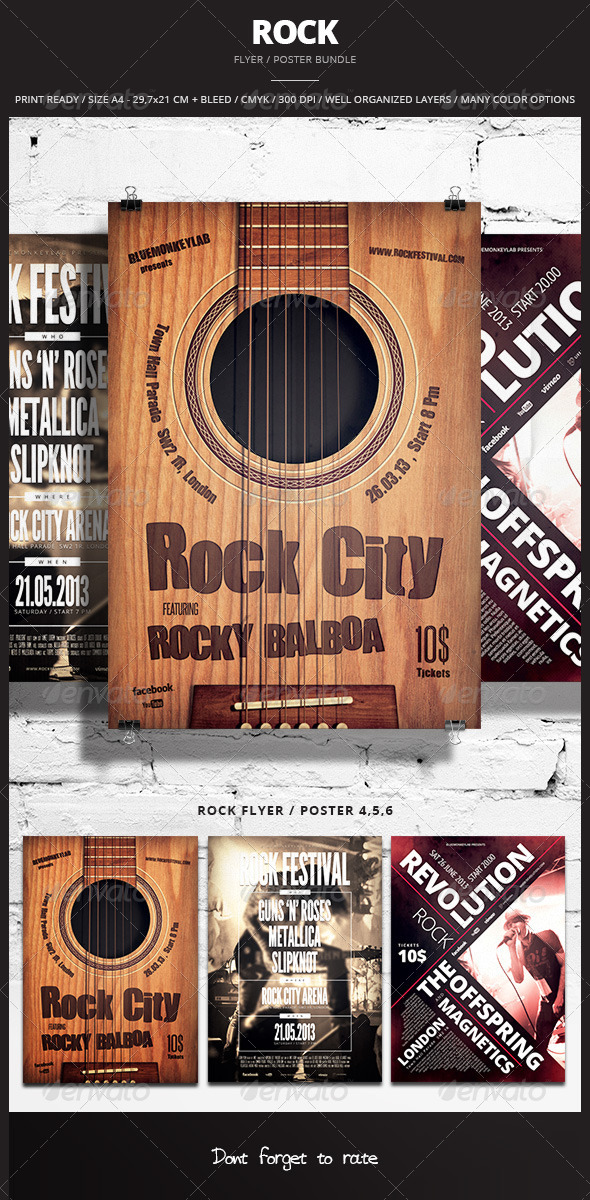 Rock Flyer / Poster Bundle 2 - Events Flyers