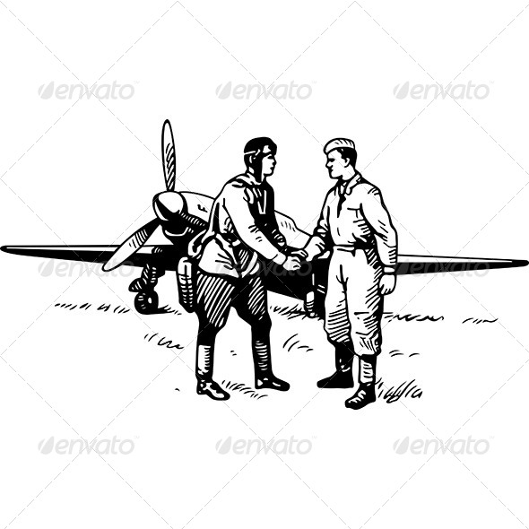 GraphicRiver Airman and Soldier 6181648