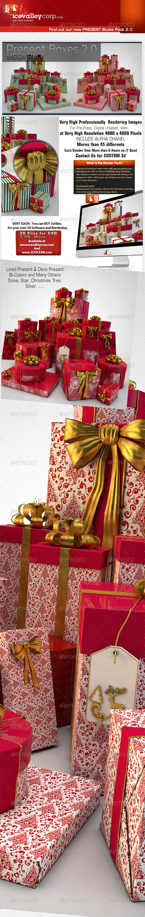 GraphicRiver 45 Present Gift Box HiRes christmas-with bow 6147730