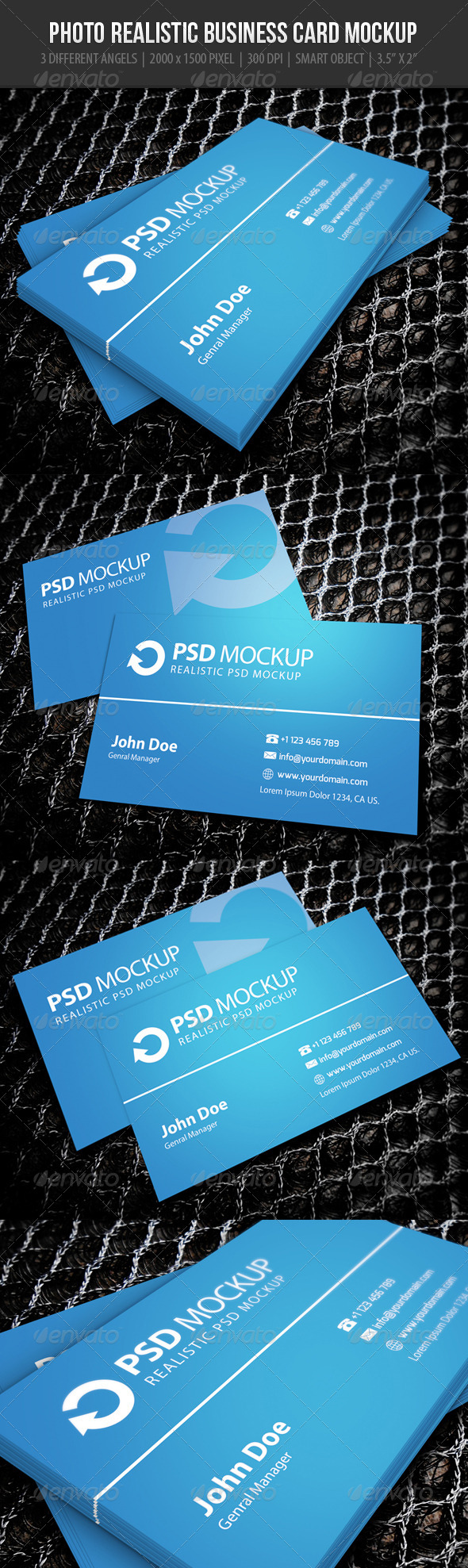 GraphicRiver Business Card Mockup 1 6182212