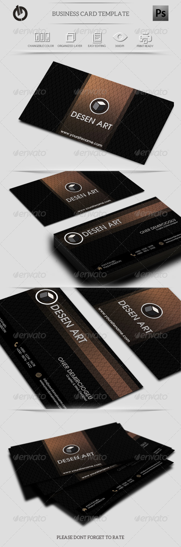 GraphicRiver Black and Gold Business Card 6183159
