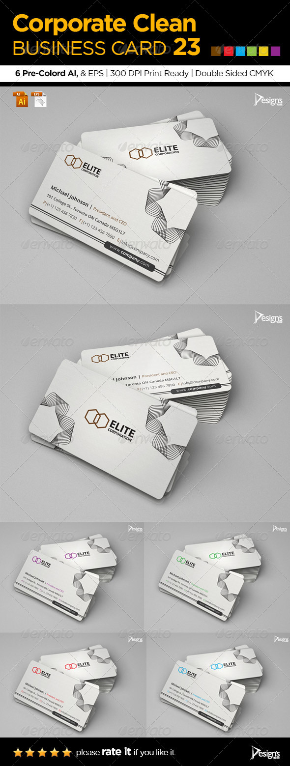 GraphicRiver Corporate Clean Business Card 23 6183173
