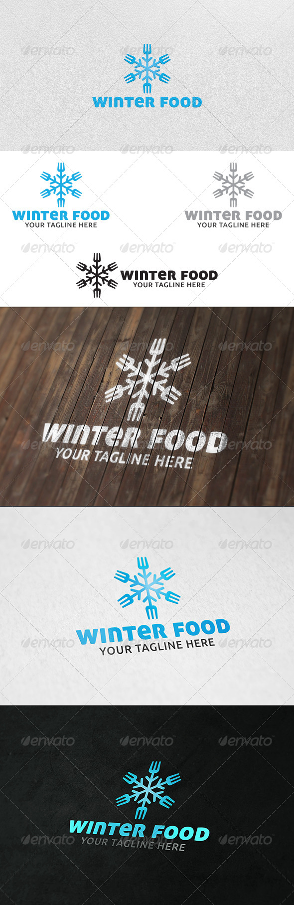 GraphicRiver Winter Food Logo Template 6183360