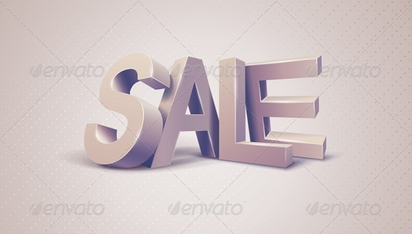 GraphicRiver Sale 3D Text Message 6183412