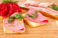 Sandwiches with salami, bacon and mortadella - PhotoDune Item for Sale