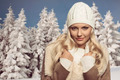 winter close-up portrait of blonde female - PhotoDune Item for Sale