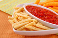 Potato, corn chips and red sauce - PhotoDune Item for Sale