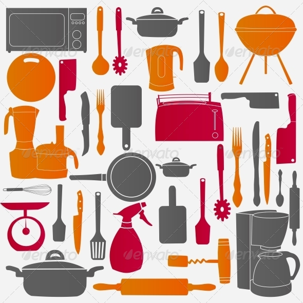 GraphicRiver Vector Illustration of Kitchen Tools for Cooking 6183943