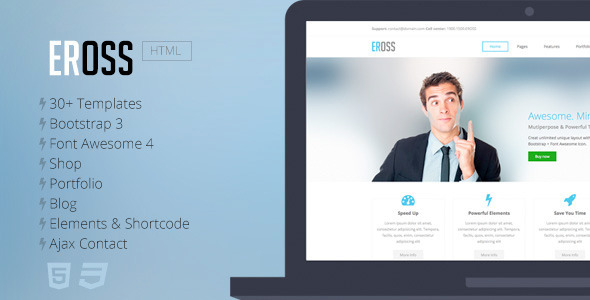 Eross - Responsive Multipurpose HTML5 Template - Corporate Site Templates