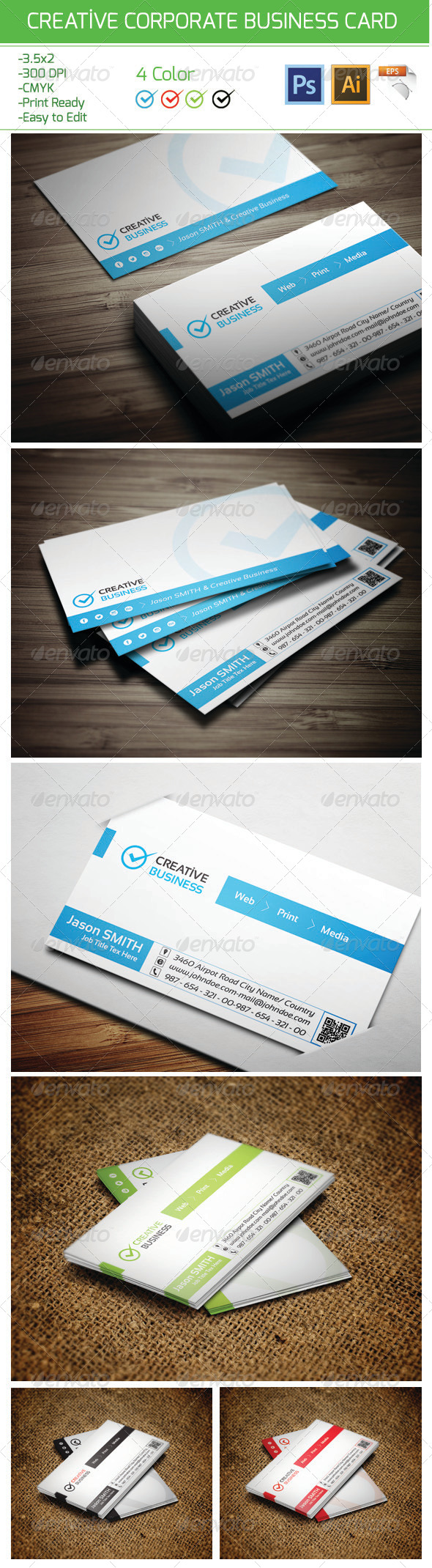 GraphicRiver Creative Corporate Business Card 17 6168120