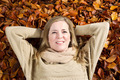 Happy Adult Woman enjoying the autumn season - PhotoDune Item for Sale