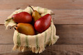 Bosc and Red Pears in Basket - PhotoDune Item for Sale