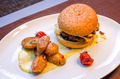 Burger with potatoes - PhotoDune Item for Sale