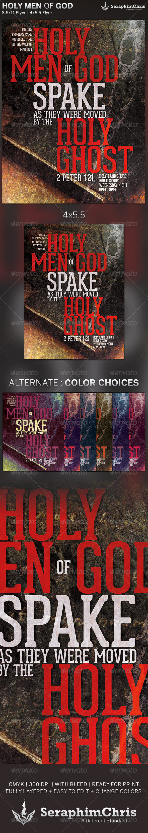 GraphicRiver Holy Men of God Church Flyer Template 6186714