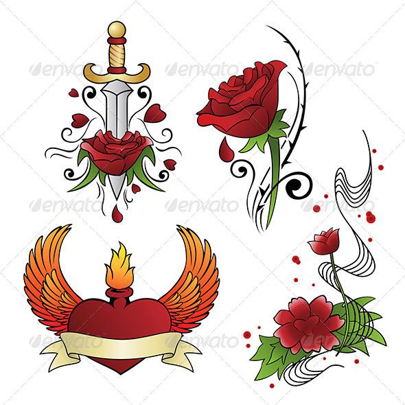 GraphicRiver Tattoo Designs 6187231