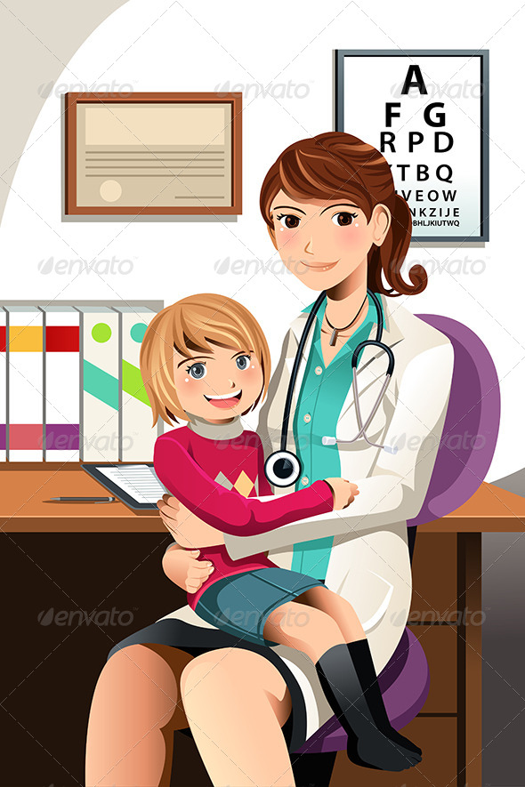 GraphicRiver Pediatrician with Child 6187439
