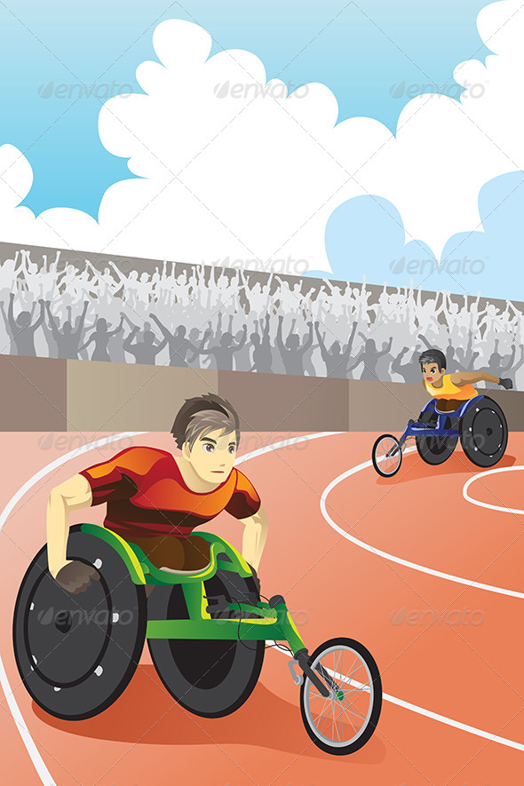 GraphicRiver Wheelchair Race 6187581