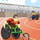Wheelchair Race - GraphicRiver Item for Sale