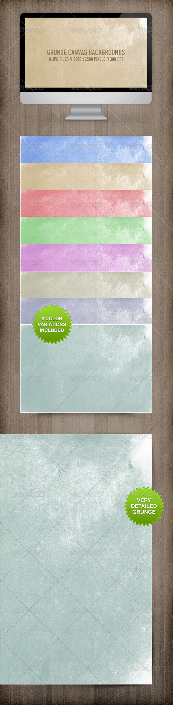 GraphicRiver Grunge Canvas Backgrounds 6188725