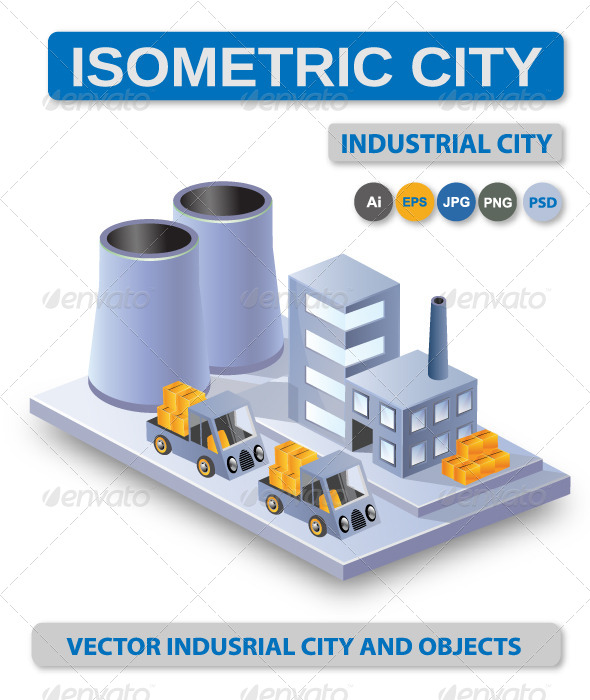 GraphicRiver Industrial Vector City 6189487