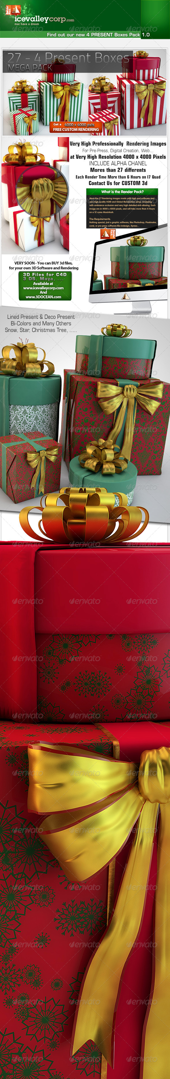 GraphicRiver 27th 4 Present Boxes in HirRes 6162520