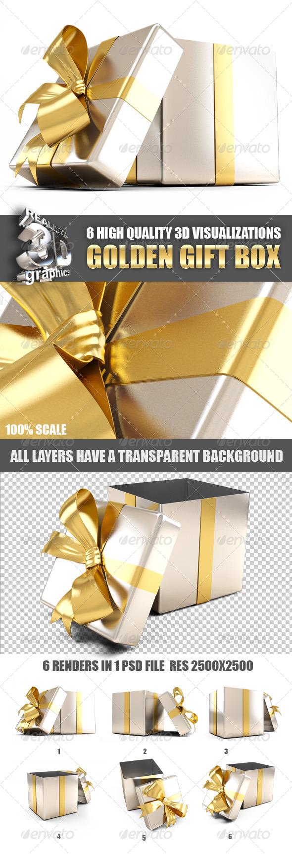 Golden Gift Box 设计素材下载