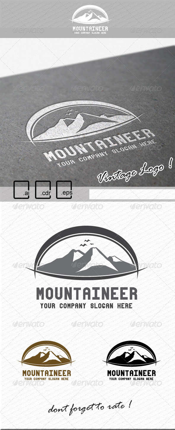 GraphicRiver Mountaineer Logo 6189755