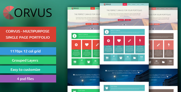 ThemeForest Corvus Multipurpose Single Page Portfolio 6172390