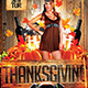 Thanksgiving Party Flyer Template - GraphicRiver Item for Sale