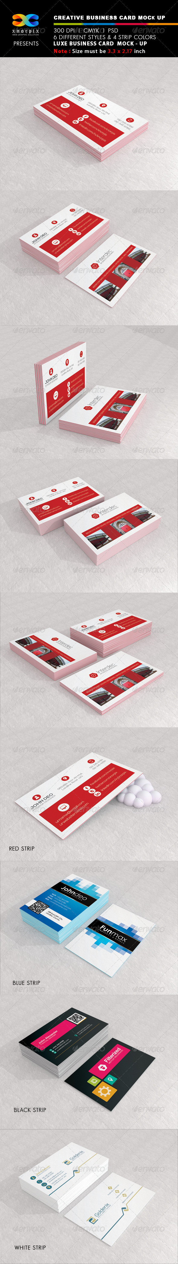 GraphicRiver Luxe Business Card Mock-up 6190240