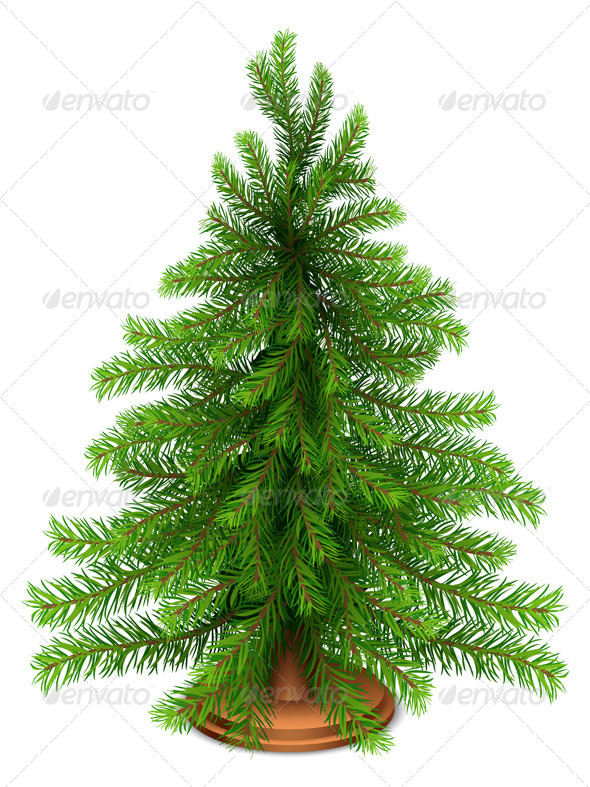 GraphicRiver Christmas Fir Tree 6190292