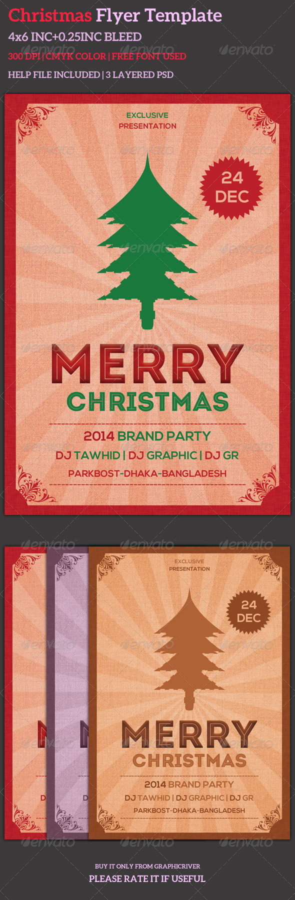 GraphicRiver Christmas Flyer Template 6190652